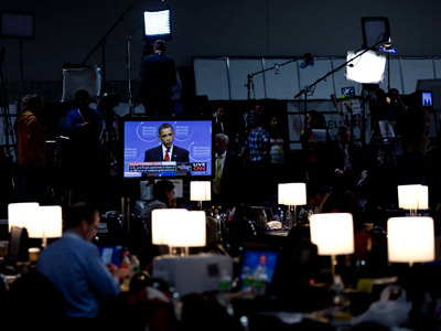 President Barack Obama speaking during nuclear security summit.