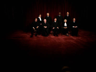 Class photo of Justices at the Supreme Court.